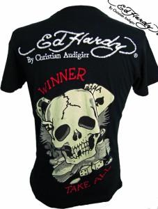 【送料無料】エドハーディー Tシャツ メンズ /ED HARDY Tシャツ /ELYING ACE/ラインストーン 【A0BBJKMN】/BLACK