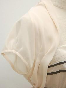 ボレロ112【即納】超シンプル!シフォンのフレンチスリーブ♪【パーティードレス 結婚式 ドレス 半袖】【aut_lt】