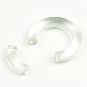 【メール便 送料無料】UVアクリル スムースセグメントリング 8GA(3mm)Uv Smooth Segment Ring【ボディピアス/ボディーピアス】 ┃