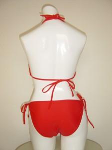 水着 ビキニ ホルターネック レッドカラー 赤色【レディース 水着 通販 ホルタービキニ】sw-10073 ┃
