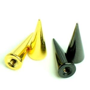メール便送料無料 ボディピアス ステンレス スパイク パーツ カラー16GA(1.2mm) 3/8mm Anodized加工 ボディーピアス ┃