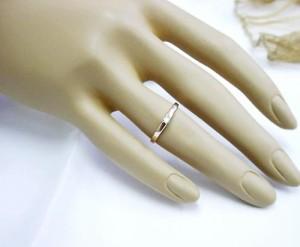 シンプルデザインのK10ピンクゴールド/K10WG/ダイヤモンドリング:送料無料