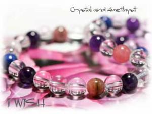 愛情 を 復活 させ 絆 を 強める 水晶 × アメジスト の ブレス ★パワーストーン ブレスレット