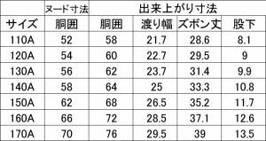 松亀被服 小学半ズボン丈長 紺 冬 110A-170A