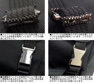 narifuri ナリフリ スーパーハードナイロンバックパック ブラックxシルバー 送料無料