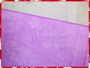 浴衣ゆかたに♪簡単ふわっふわ兵児帯薄紫地桜桜