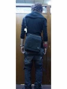ポーター 吉田カバン SMOKY スモーキー 縦型フラップショルダーバッグ(マチ幅変更可能) 592-07628 ブラック 送料無料