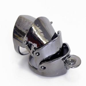 定形外 送料無料 アーマーリング ブラックカラー 11〜20号サイズ BLACK COLOR ファッションリング メタルリング 『T』 RING-M00001 ┃
