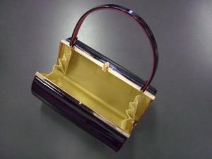 エナメル草履バッグセット黒(ピンク)L 振袖成人式&卒業式袴・訪問着に