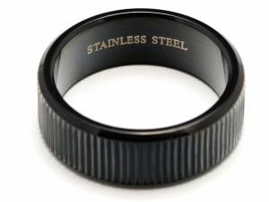 50%OFF【Black Sand】黒のステンレスリング/ブラックリング/SV/RING/HR