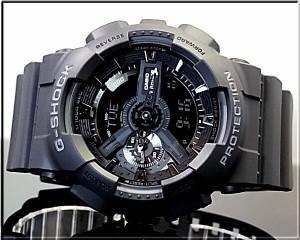 カシオ/G-SHOCK【CASIO/Gショック】アナデジ メンズ腕時計 ブラック GA-110-1B 海外モデル
