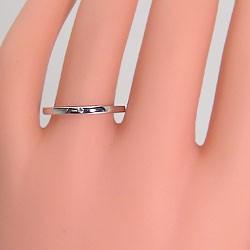 ペアリング結婚指輪マリッジリングホワイトゴールドK18ダイヤモンド指輪 送料無料 2本セット K18WG