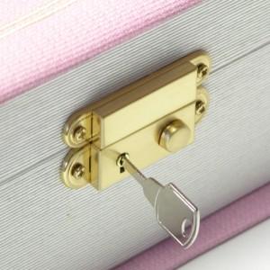 カラーは選べる3色!たっぷり収納できる鍵付き高級ジュエリーケース|宝石箱|ジュエリーボックス|宝石ケース|送料無料