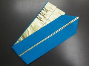振袖(成人式)&袴に♪2色使いの重ね衿ターコイズブルー金