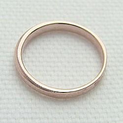 シンプルリング ピンクゴールドK18 指輪 K18PG ピンキーリング