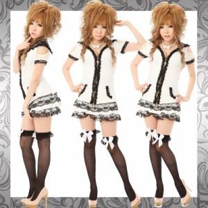 【即納】【980円】真っ白リボンつきソックス!BIGおリボンSWEETニーハイタイツストッキング♪コスプレイベント衣装コーデに!
