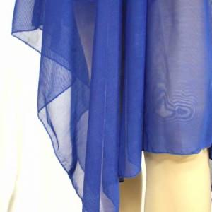 チュールレースが可愛い胸切り替えフレア★大きいサイズOK★風に揺れる[14色]ふんわりシフォン妖精☆ミディ丈ワンピース