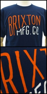 ブリクストン グレード Tシャツ ネイビー/Sサイズ(Brixton GRADE)