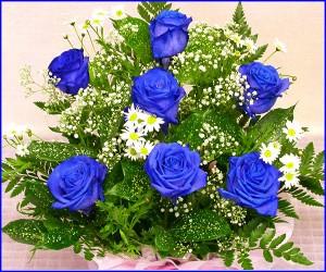 【バラ アレンジ】青いバラのアレンジ 【お誕生日】【プレゼント】【wd】