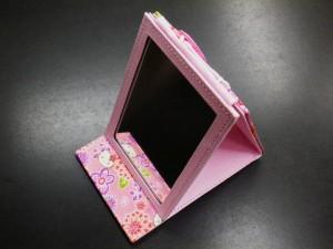 和×キティちゃんコラボ 和柄携帯立て鏡ピンク
