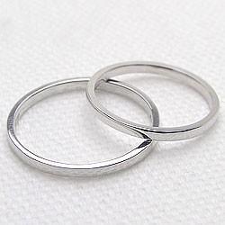 結婚指輪 プラチナ 一粒ダイヤモンド ペアリング マリッジリング 2本セット Pt900