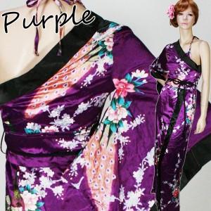 【新色入荷】伝統的な和美を昇華させた情熱的なワンショル肩魅せ花魁♪着物セクシー和美人ロングドレス♪【キャバドレス/浴衣/着物】
