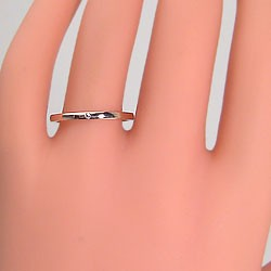 結婚指輪 ゴールド 一粒ダイヤモンド ペアリング マリッジリング ピンクゴールドK18 2本セット K18PG 送料無料