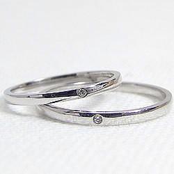 結婚指輪 プラチナ ペアリング 一粒ダイヤモンド Pt900 マリッジリング ストレートリング 2本セット