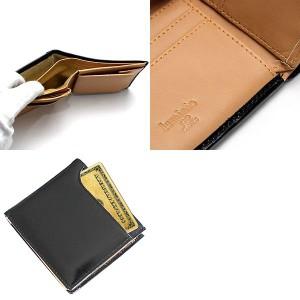 【訳あり】[あす着]【送料無料】luminio/ルミニーオ 二つ折り財布 オイルドレザー メンズ 革  1007-black