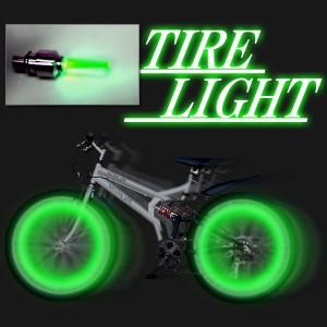 【メール便送料込み・代引き不可】自転車・バイクアクセサリー タイヤライト タイヤが回転すると夜に綺麗なタイヤライト!3色