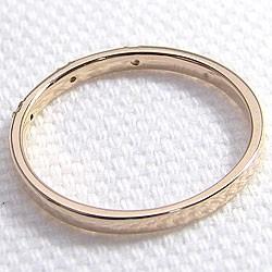 スリーストーン ダイヤリング トリロジー ピンクゴールドK18 指輪 18金 ピンキーリング 天然ダイヤモンド 0.03ct 究極diaring