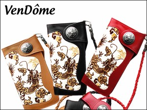 VenDome 通販で人気の革 財布 本牛革&馬毛使用 龍柄 長財布/3カラー fa-112116208