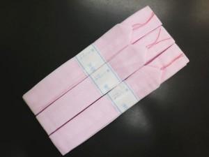着物&浴衣に 腰紐(こしひも)3本セットモスリンピンク