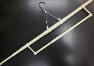 小さく折畳みOK 長尺帯掛付伸縮着物きもの(和装)ハンガー