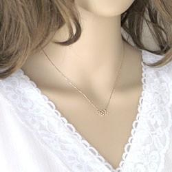 ハートネックレス ダイヤモンドネックレス ピンクゴールドK10 ぺンダント 10金 送料無料