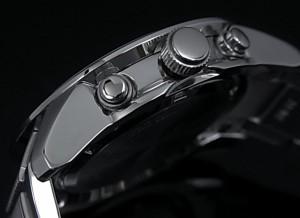 SEIKO/セイコー【アラームクロノグラフ】メンズ腕時計 シルバー文字盤 メタルベルト SNAB15P1 海外モデル