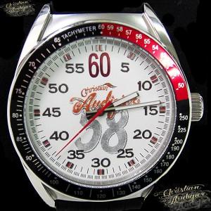 【20%OFF】Christian Audigier クリスチャン オードジェー 腕時計 時計 エタニティ ETERNITY ETE-119 メンズ/ブラック×ホワイト