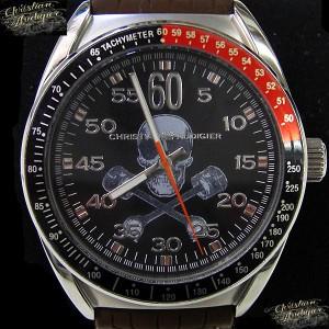 【20%OFF】Christian Audigier クリスチャン オードジェー 腕時計 時計 エタニティ ETERNITY ETE-120 メンズ/ブラウン×ブラック