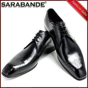 [送料無料]SARABANDE サラバンド ビジネスシューズ 本革製きれいめ木型 9502-blk