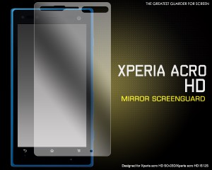 Xperia acro HD SO-03D/Xperia acro HD IS12S ミラー液晶保護保護シール / エクスぺリア アクロ HD au保護フィルム(fdso03d-mr)