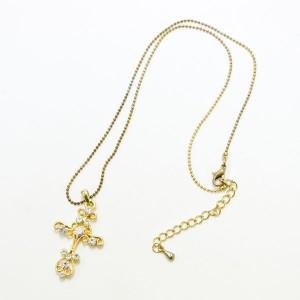 SWAROVSKI スワロフスキー アンティーク十字架ネックレス GD 定価29800円