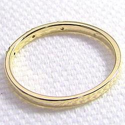 ファイブストーン ダイヤリング イエローゴールドK18 指輪 18金 ピンキーリング ダイヤモンドリング 0.05ct 究極diaring