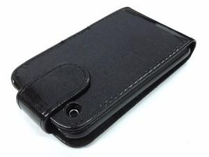 【ブラック】 アウトレット iPhone3GSレザー調ポーチケース(WM-261-05)