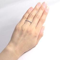 スリーストーン ダイヤリング トリロジー ホワイトゴールドK10 指輪 10金 ピンキーリング ダイヤモンドリング 0.03ct 究極diaring