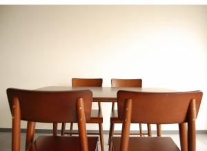 ダイニングテーブル5点セット(チェアー4脚+テーブル120×75セット) ダイニングテーブルセット モダンデザイン 北欧 M091387