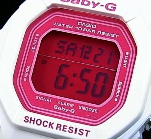CASIO/カシオ【ベビーG/Baby-G】レディース Candy Colors キャンディーカラーズ ホワイト/ピンク BG-5601-7 海外モデル