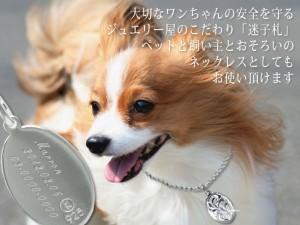 刻印 ネコポス送料無料 ペット用 犬 猫 迷子札 オーバルプレートネックレス ハワイアンジュエリー SP2917-f 父の日