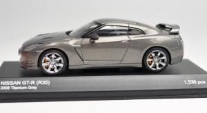 京商●1/43 ダイキャストモデルカー【ニッサン GT-R(R35) 2008 タイタニウムグレー】K03741TG★特価