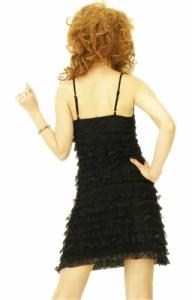 509【即納】【愛のドレス】コサージュ付可愛いレースふりふりラッフルドレス/ピンク★5,001円以上でで送料無料★