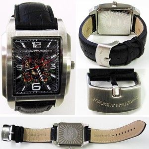 【20%OFF】Christian Audigier クリスチャン オードジェー 腕時計 時計 SWI-629 メンズ/ブラック